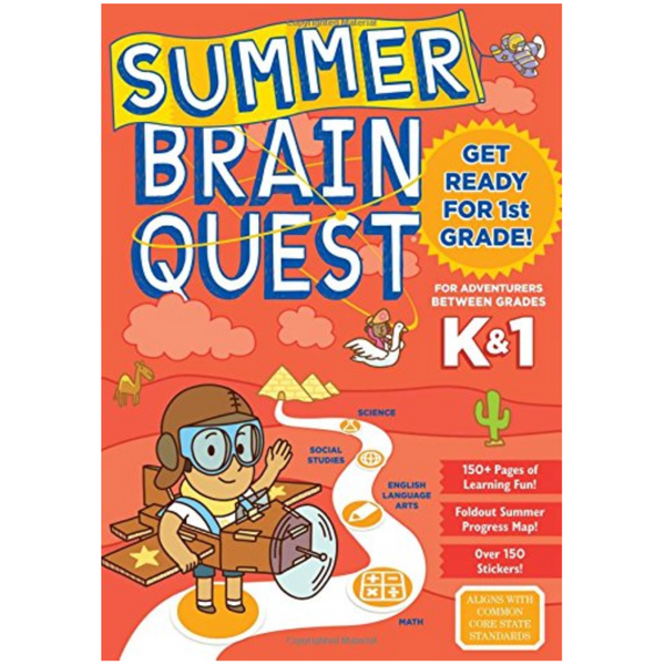Summer Brainquest Workbook: Between Grades K & 1