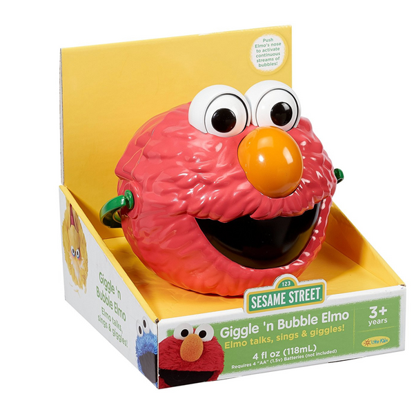 Giggle and Speak Elmo: No-Spill Motorized Bubble Machine