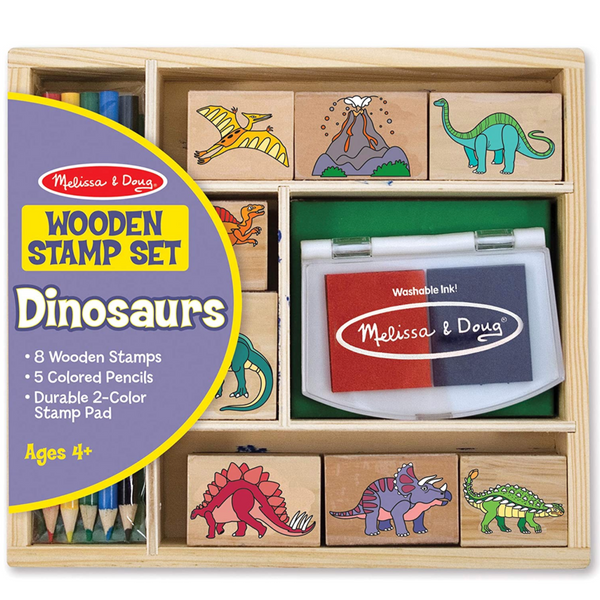 Dinosaur Wooden Stamp Kit
