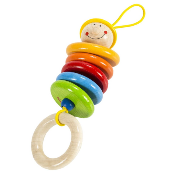 Wooden Rattling Dangling Figure (Clutching, Teething, Rattle)