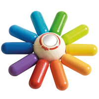 Rainbow Sun Wooden Clutching Toy Rattle & Teether