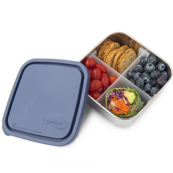 Divided Square Containers, Ocean (30oz)