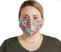 Adjustable Teen/Adult Cloth Face Masks: Retro Meadow