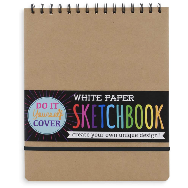 DIY Cover Perforated Sketchbook (75 White Paper Sheets, Large)