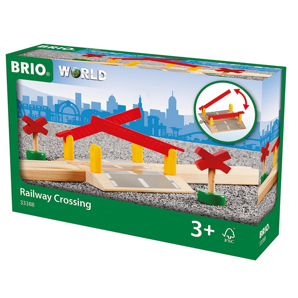 Railway Crossing, Set of 4 Pieces