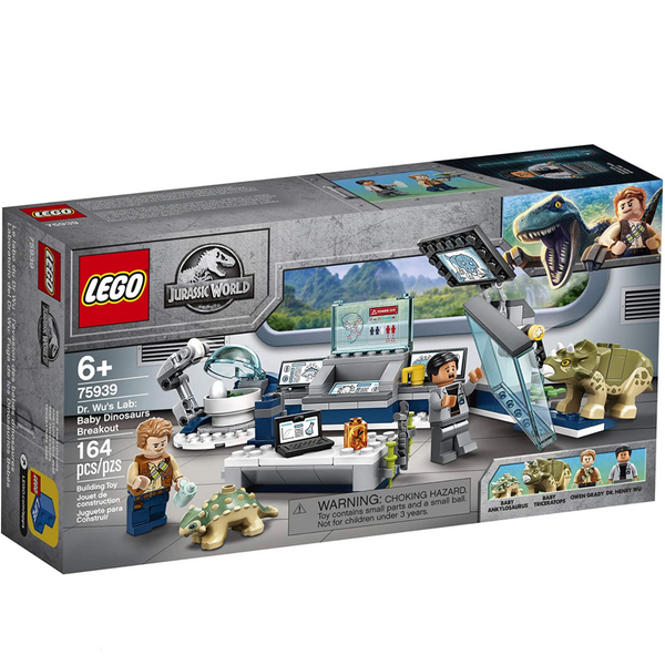 Lego Jurassic World: Dr. Wu's Lab Baby Dino Breakout