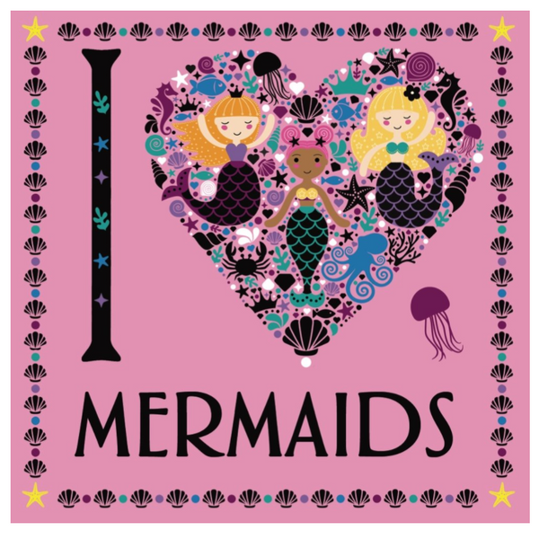 I Love Mermaids, Coloring Book