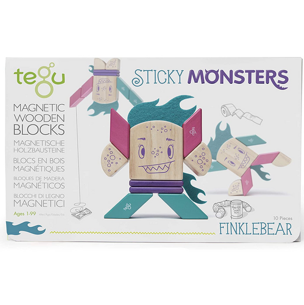 Tegu Finklebear Magnetic Wooden Block Set