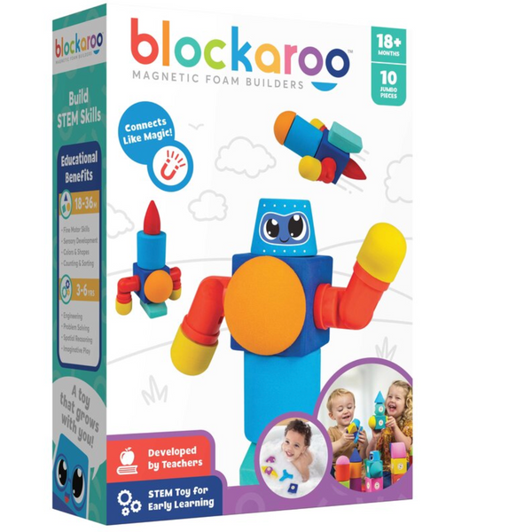 Blockaroo Magnetic Foam Blocks: Robot