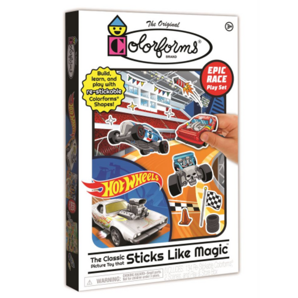 Colorforms Playset: Hot Wheels