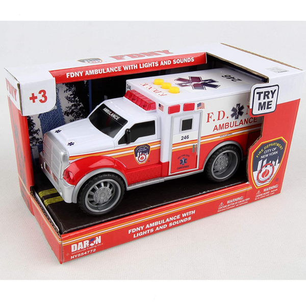 FDNY Fire Ambulance Car (with Lights & Sounds)