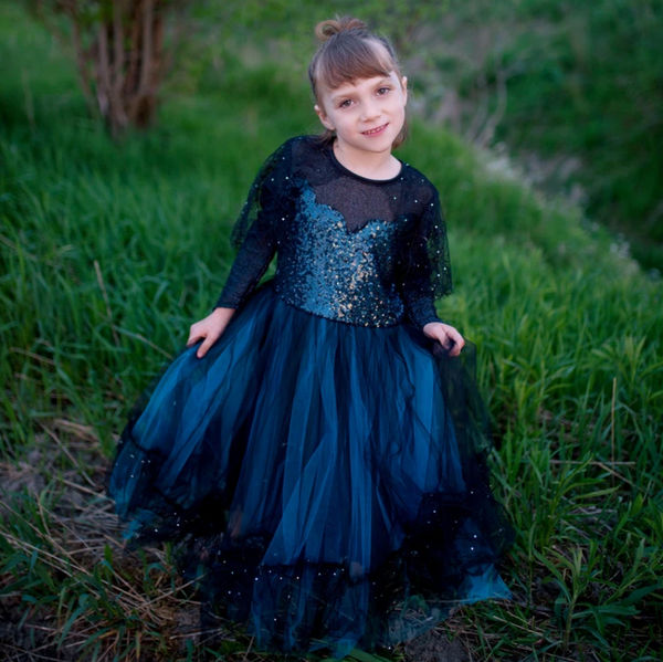 Luna the Midnight Witch, Dress & Headband (Multiple Sizes)