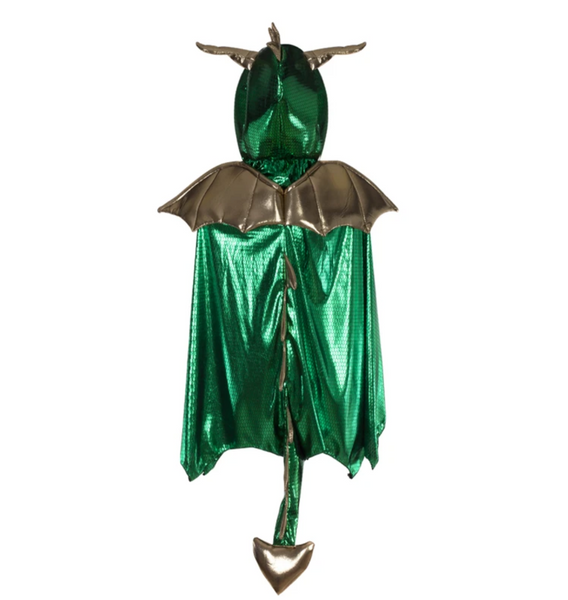 Green & Gold Metallic Dragon Cape (Multiple Sizes)