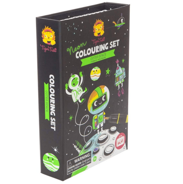 Tiger Tribe Neon Coloring Set: Outer Space
