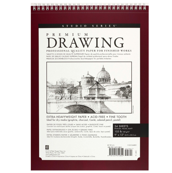 Premium Drawing Pad (9'' X 12'')