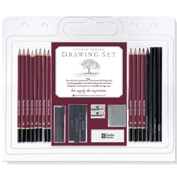 Studio Series 25-Piece Sketch & Drawing Pencil Set