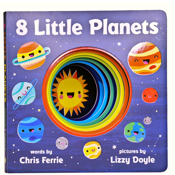 8 Little Planets: A Solar System Book for Kids with Unique Planet Cutouts (Board Book)