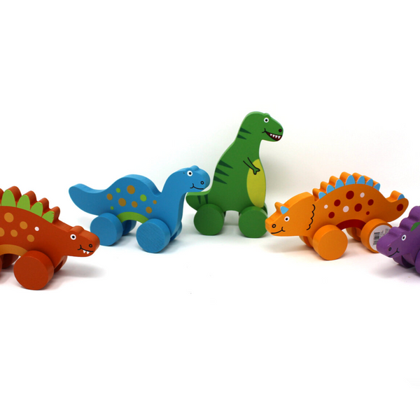 Wooden Dino Rollers