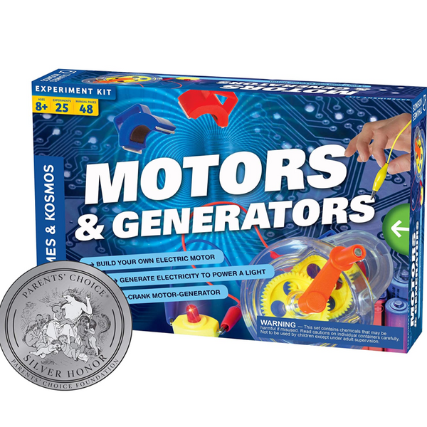 Motors & Generators (with 25 Experiments!)