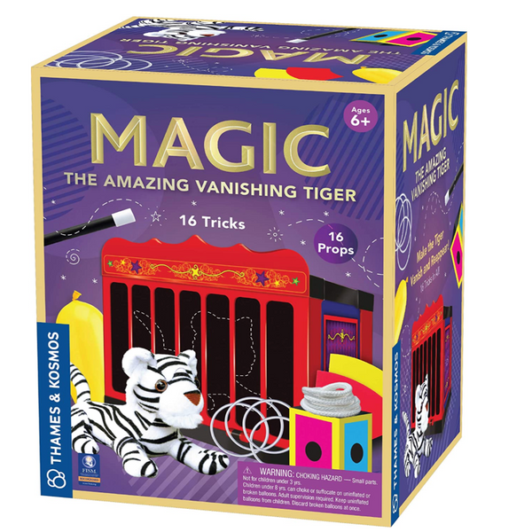 The Amazing Vanishing Tiger Magic Set (16 Tricks for Magicians)