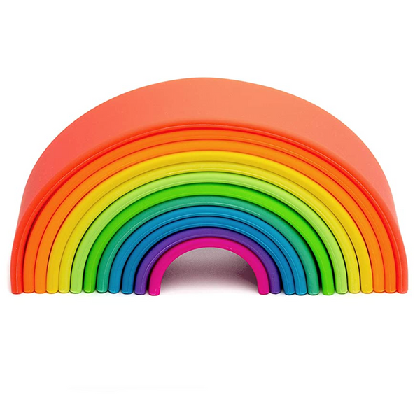 Dena Large Neon Rainbow (Teether, Stacker, Bath Toy)