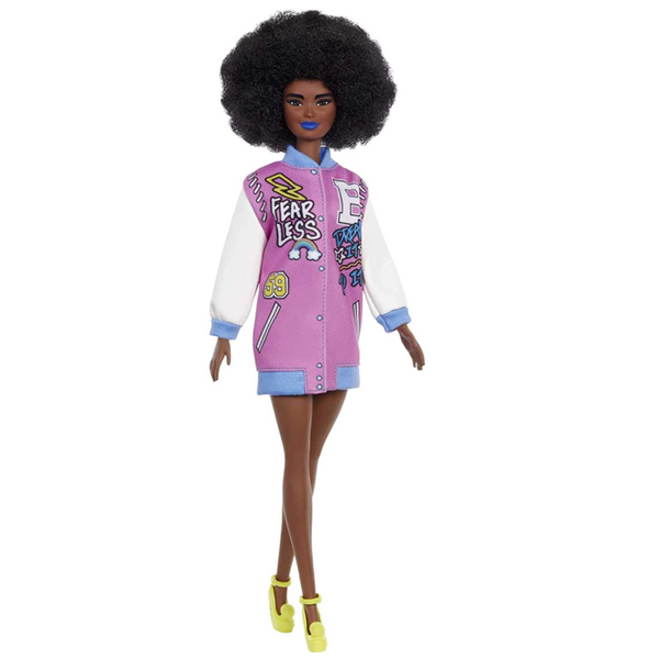 Barbie: Fashionistas Curly Brunette and Letterman Jacket 156