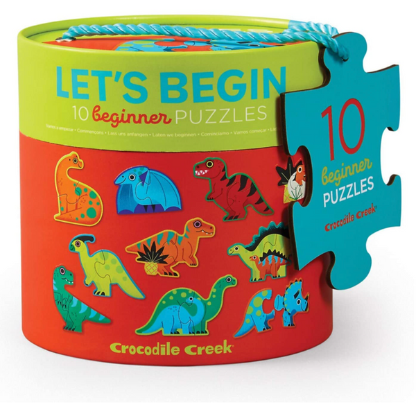 Let's Begin Dinosaurs: 10 2-Piece Puzzles