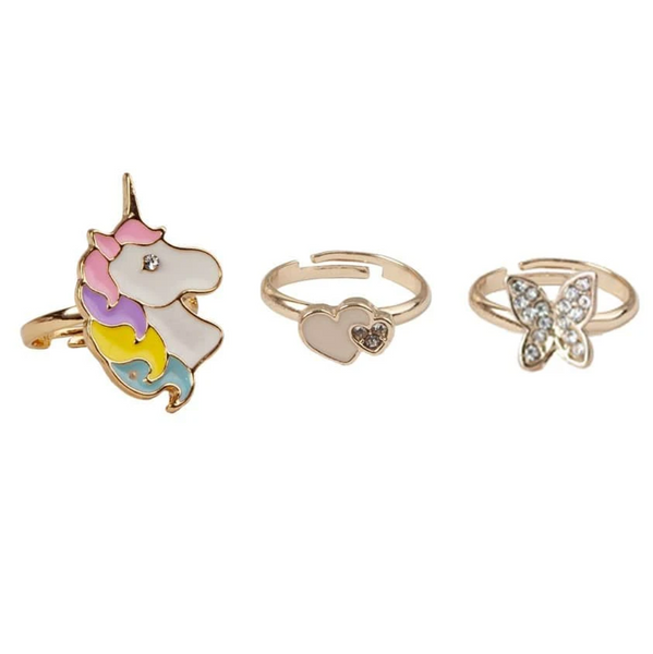 Butterfly & Unicorn Ring Set
