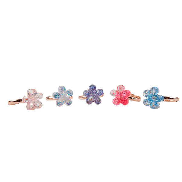 Shimmer Flower Ring Set