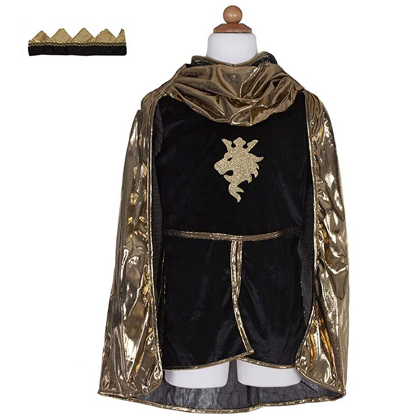 Golden Knight with Tunic, Cape, & Crown (Size 5-6)