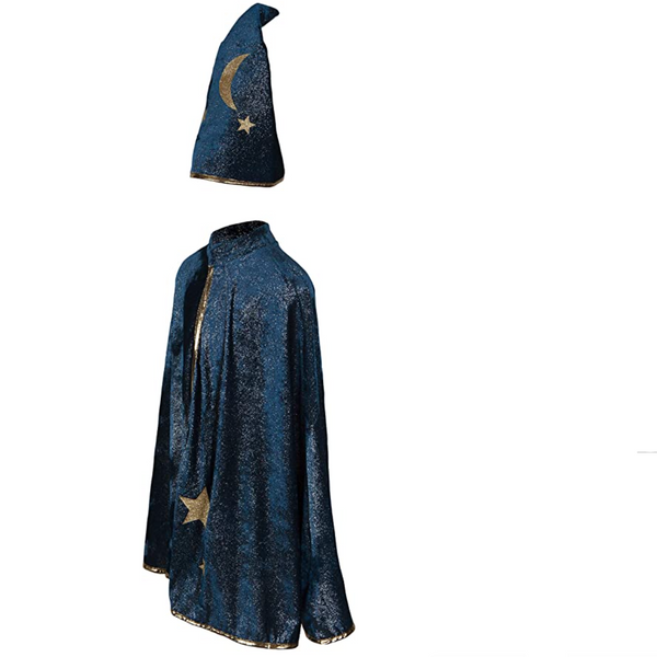 Starry Night Wizard Cape & Hat (Size 7-8)