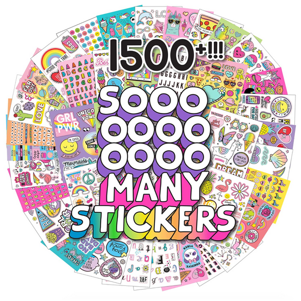 1500+ Sticker Book!!