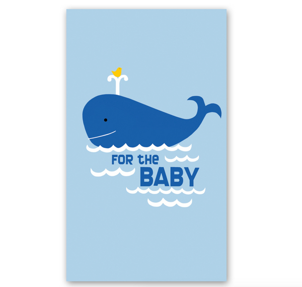 Mini Card: Whale 'For the Baby'