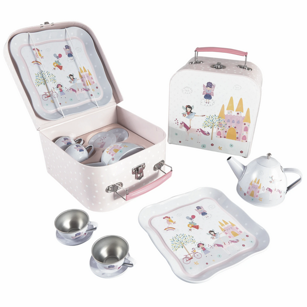 Fairy Unicorn 7pc Tin Tea Set