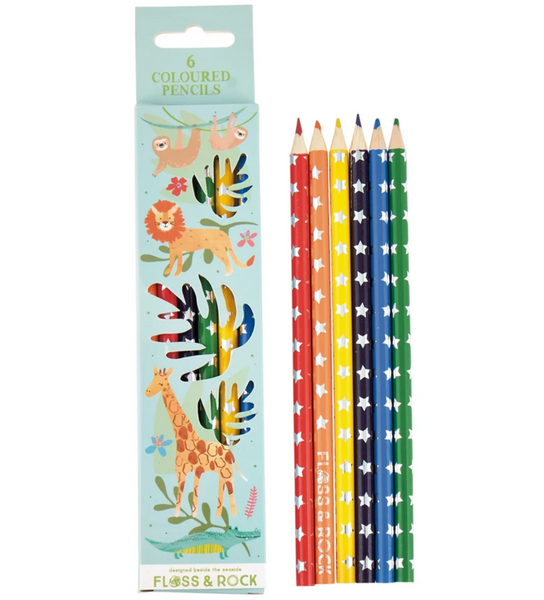Jungle Colored Pencils, Set of 6