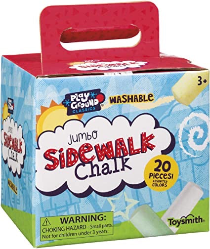 Jumbo Sidewalk Chalk, 20 piece of assorted colors