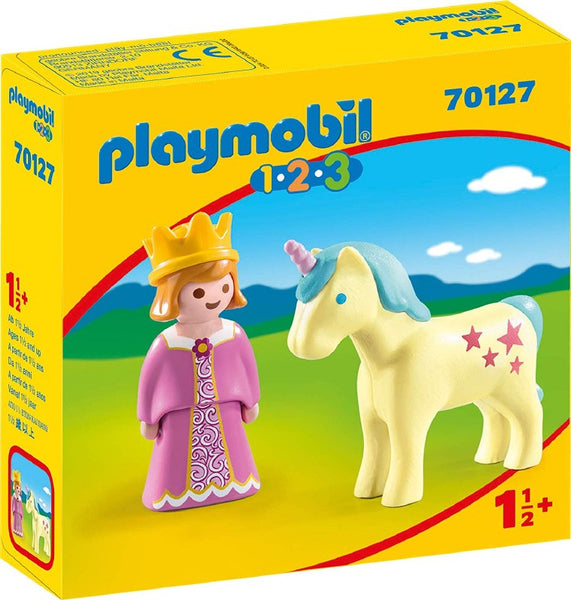 Playmobil 1-2-3: Princess with Unicorn