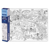Giant Coloring Poster: Day at the Dinosaur Museum