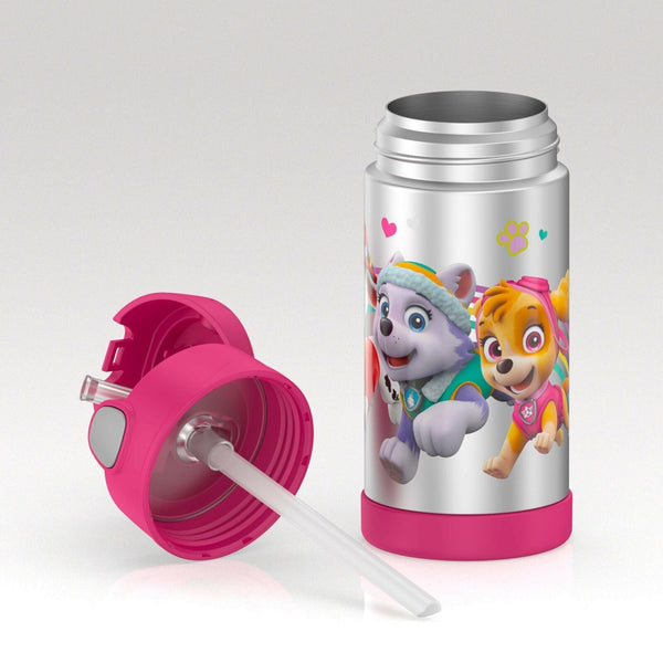Insulated Stainless Steel Straw Bottle: Paw Patrol (12oz)