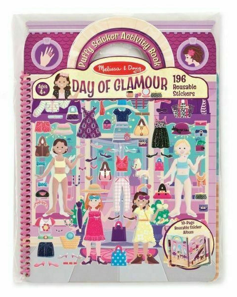 Puffy Reusable Sticker Play Set: Day of Glamour