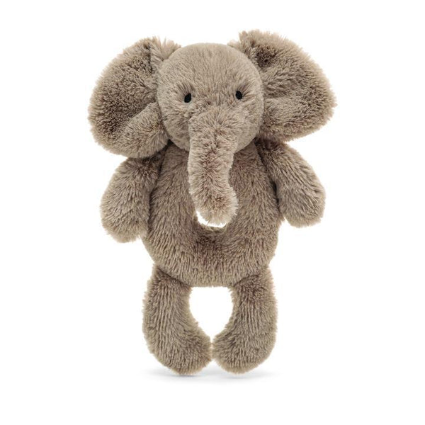 Bashful Ring Rattle, Smudge Elephant