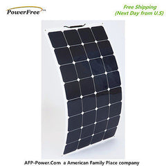 Semi-Flexible Bendable 100w 100 Watt Solar Panel 12v Battery Off Grid U.S. Tech