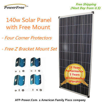 140w 140 Watt Photovoltaic Solar Panel Charging Charger to 12v Battery RV Boat