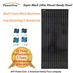 SUPER BLACK 140w 140 Watt Mono Solar Panel + Free $10 Mount -12V Battery RV Boat (Special Discount Price for Customer Pickup Only)