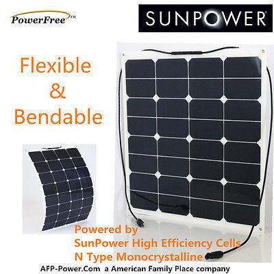 Semi Flexible Bendable 50w 50 Watt Solar Panel 12v Battery