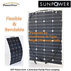 Semi-Flexible Bendable 60w 60 Watt Solar Panel 24v Battery Off Grid