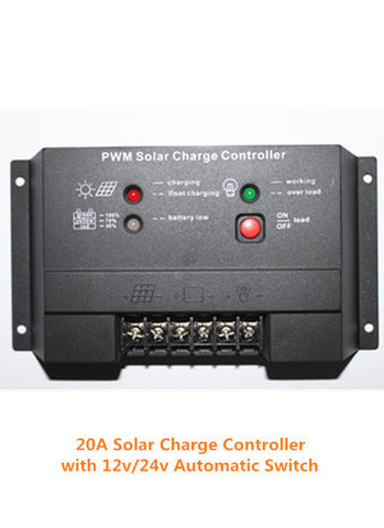 20A Solar Charge Controller for 12v or 24v Batteries