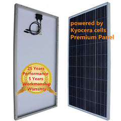 Kyocera Cell Sturdy Solar 140W + 10W Panel for 12v Battery RV Boat Off Grid