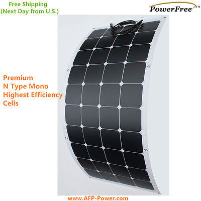 Semi Flexible Bendable 120w 120 Watt Lightweight Solar Panel 12v Battery OffGrid