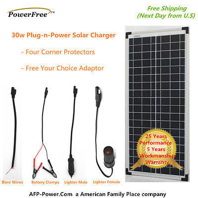 SOLD OUT COMING SOON: 30W 30 Watt Polycrystalline Poly Solar Panel Charging